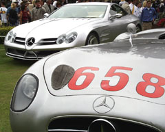 Mercedes-Benz 1955 300 SLR and the 1999 VISION SLR Concept Car