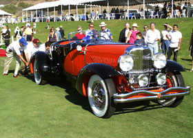 Duesenberg J Speedster being pushed