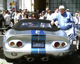 Carroll Shelby and his 2000 Cobra