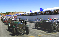 Vintage Bentleys racing at the Monterey Historic Automobile Races 2001