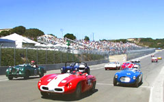 Start of race 3A at the Monterey Historic Automobile Races 2001