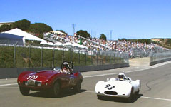 1954 Arnolt-Bristol Bolide and 1955 Cooper T-39 at the Monterey Historic Automobile Races 2001