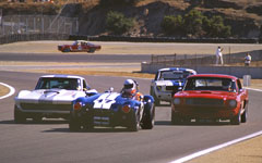 1963 Cobra, 1966 Corvette and 1966 Shelby at the Monterey Historic Automobile Races 2001