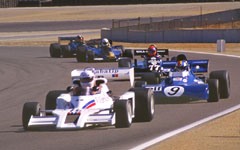 1977 Shadow, 1971 Tyrell and 1981 March at the Monterey Historic Automobile Races 2001