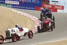 1922 Ford, 1915 Ford and 1916 National at the Monterey Historic Automobile Races 2002