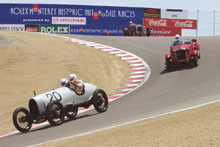 1913 Deltal, 1928 Alfa Romeo and 1932 Aston Martin at the Monterey Historic Automobile Races 2002
