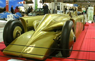 Retromobile 2003 - 1929 Golden Arrow Henry Seagrave World Speed Record Vehicle
