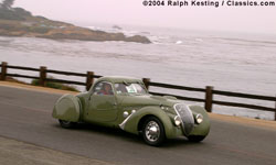 Pebble Beach Tour 2004 - 1937 Peugeot Darl'mat 302DS Pourtout Coupe