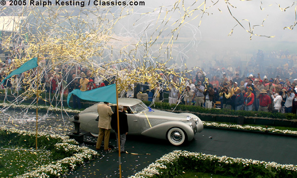 The Pebble Beach Concours d'Elegance 2005 - Best of Show - 1937 Delage D8-120 S Pourtout Aéro Coupe